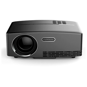 Proyector Video Beam Inteligente LED HD 1800 Lumens - Negro