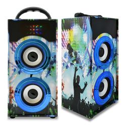 Parlante Speaker Bluetooth Recargable Portatil Azul