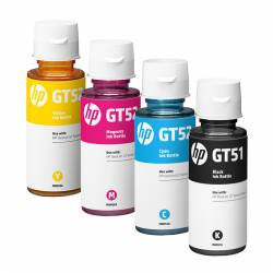Kit 4 Botella de Tinta HP GT51 - GT52 C-Y-M-B PAGUE 3 LLEVE 4